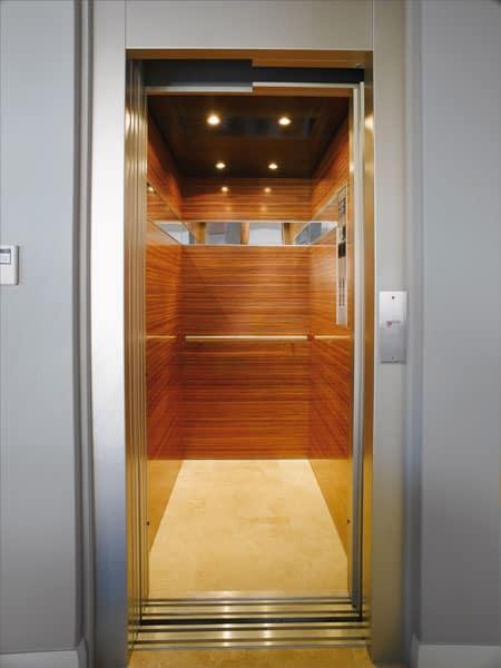 ốp gỗ cabin thang máy