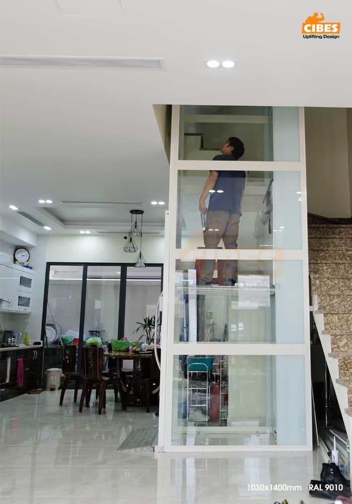 Thang máy Cibes A4000 tại căn hộ Phú Gia Vinhomes Dragon Bay 5