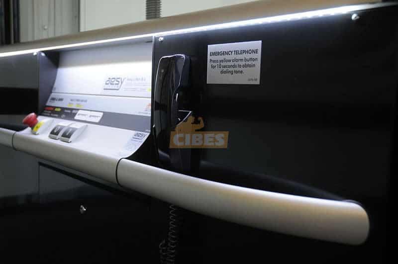 Thang máy Cibes A5000 tại showroom văn phòng Cibes Hà Lan 2