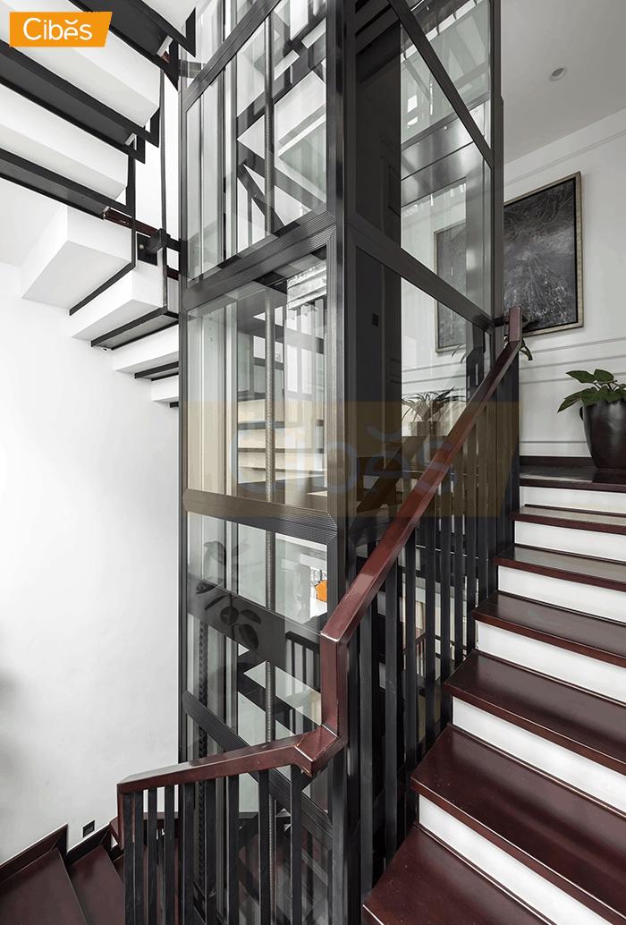 Thiết kế thang máy gia đình theo phong cách Châu Âu