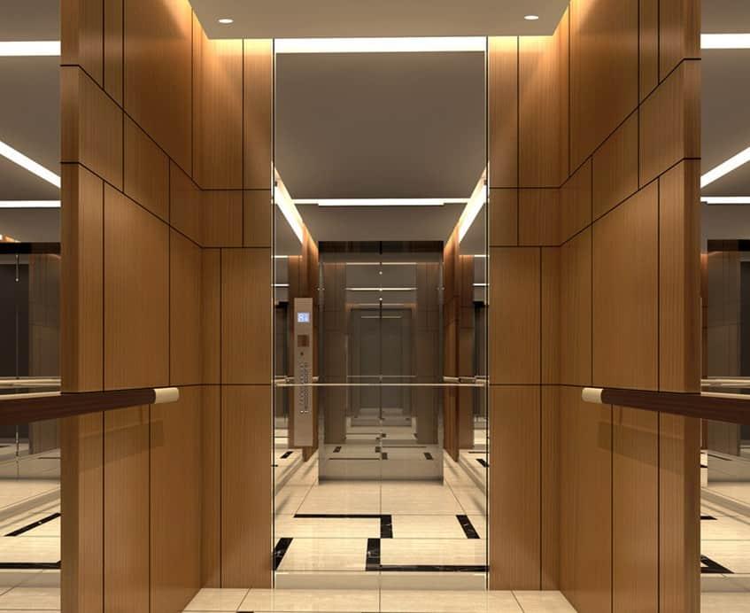 Tại sao nên lắp đặt gương trong cầu thang máy?