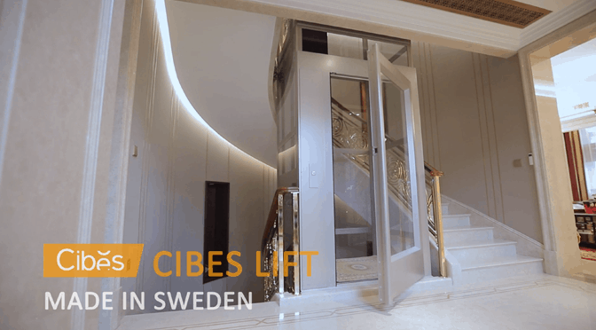Lắp đặt thang máy Cibes đẹp tinh tế cho biệt thự, nhà phố