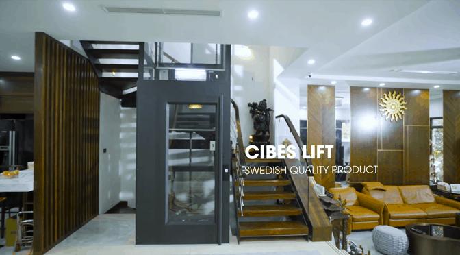 Công trình thực tế thang máy Cibes, lắp tại biệt thự 4 tầng