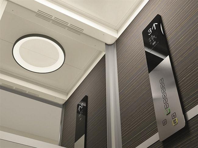 Hệ thống điều hòa giúp làm mát cabin thang máy