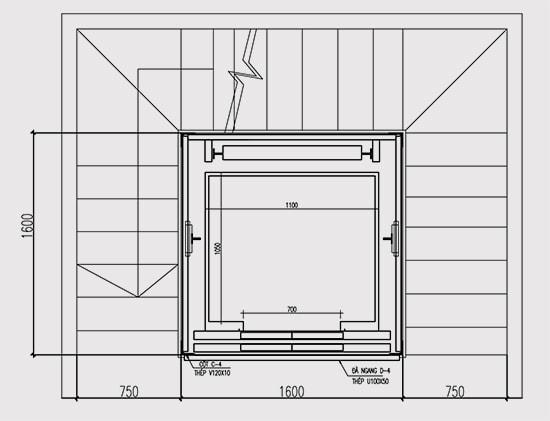 Giải pháp thiết kế thang bộ ôm thang máy trong gia đình