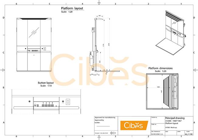 Tìm hiểu về sơ đồ khối của hệ thống thang máy gia đình Cibes