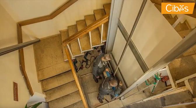 Thang máy gia đình Cibes Thụy Điển được lắp đặt như thế nào