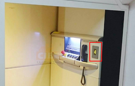 Bảng điều khiển thang máy hiện đại sang trọng của Cibes
