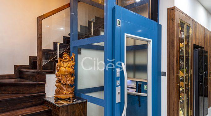 Cibes A4000 màu RAL5020 lắp tại biệt thự cao cấp tuyệt đẹp