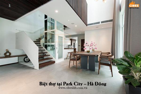 Mẫu thang máy biệt thự Part City - Hà Đông