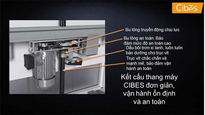 Thang máy kính sử dụng công nghệ trục vít